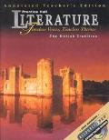 Literature: Timeless Voices, Timeless Themes- The British Tradition, Annotated Teacher's Edi...