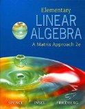 Elementary Linear Algebra with Student Solution Manual (2nd Edition)