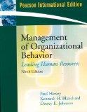 Management of Organizational Behavior: Leading Human Resources (Pearson International Edition)