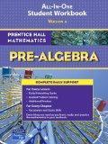 Prentice Hall Mathematics: Pre-Algebra; ALL-IN-ONE Student Workbook, Version A