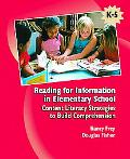 Reading For Information In Elementary School Content Literacy Strategies To Build Comprehens...
