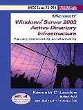 Planning, Implementing, And Maintaining A Microsoft(r) Windows(r) Server 2003 Active Directory Infrastructure Exam 70-294
