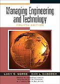 Managing Engineering and Technology An Introduction to Management for Engineers