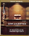Law and Justice An Introduction to the American Legal System