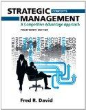 Strategic Management : A Competitive Advantage Approach, Concepts Plus New Mymanagementlab w...