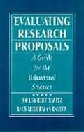 Evaluating Research Proposals A Guide for the Behavioral Sciences
