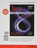 Student Value Edition for Java How to Program, Early Objects plus MyProgrammingLab with Pear...