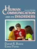 Human Communication and Its Disorders - Daniel R. Boone - Hardcover - Older Edition