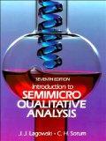 Introduction to Semimicro Qualitative Analysis (7th Edition)