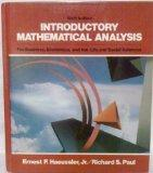 Introductory Mathematical Analysis for Business, Economics, & the Life & Social Sciences