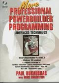 More Professional PowerBuilder 5.0 Programming, with CD-ROM