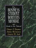 The Business Student Writer's Manual and Guide to the Internet
