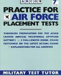 Practice for Air Force Placement Tests - Eve P. Steinberg - Paperback - 7th ed