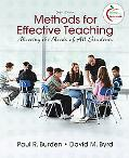 Methods for Effective Teaching: Meeting the Needs of All Students