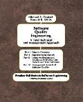 Software Quality Engineering A Total Technical and Management Approach