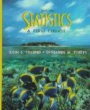 Statistics: A First Course (7th Edition)