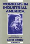 Workers in Industrial America Essays on the Twentieth Century Struggle