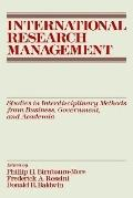 International Research Management Studies in Interdisciplinary Methods from Business, Govern...