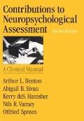Contributions to Neuropsychological Assessment A Clinical Manual