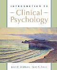 Introduction to Clinical Psychology: Science and Practice