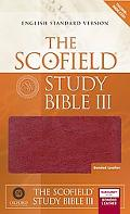 Scofield Study Bible III English Standard Version, Burgundy Bonded Leather