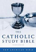 Catholic Study Bible New American Bible, Black Genuine Leather, Thumb Indexed