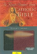 Catholic Bible RSV, Reader's Edition, Bonded Leather, Basketweave, Black/Burgundy
