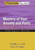 Mastery of Your Anxiety and Panic Therapist Guide