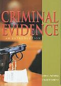 Criminal Evidence An Introduction