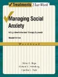 Managing Social Anxiety,Therapist Guide, 2nd Edition: A Cognitive-Behavioral Therapy Approac...