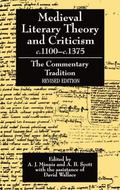 Medieval Literary Theory and Criticism C.1100-C.1375 The Commentary-Tradition