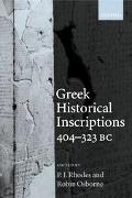 Greek Historical Inscriptions 404-323 Bc