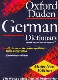 Oxford-Duden German Dictionary German-English/English-German