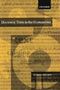 Electronic Texts in the Humanities Principles and Practice