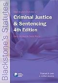 Blackstone's Statutes on Criminal Justice and Sentencing