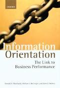 Information Orientation The Link to Business Performance