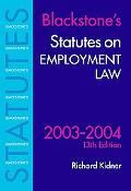 Statutes on Employment Law 2003-2004