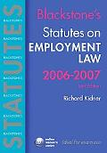 Blackstone's Statutes on Employment Law 2006-2007