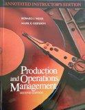 ANNOTATED INSTRUCTOR'S EDITION PRODUCTION AND OPERATIONS MANAGEMENT
