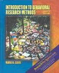 Introduction to Behavioral Research Methods (with Research Navigator) (4th Edition)