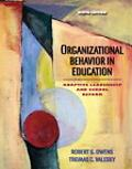 Organizational Behavior in Education Adaptive Leadership And School Reform