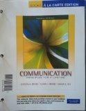 Communication: Principles for a Lifetime, Books a la Carte Edition (4th Edition)