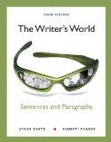 The Writer's World: Sentences and Paragraphs (3rd Edition) (MyWritingLab Series)