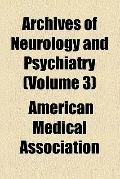 Archives of neurology and psychiatry