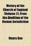 History of the Church of England (1881)