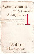 Commentaries on the Laws of England A Facsimile of the First Edition of 1765-1769