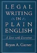 Legal Writing in Plain English A Text With Exercises