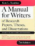 Manual for Writers of Research Papers, Theses, and Dissertations Chicago Style for Students ...