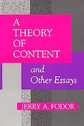 Theory of Content and Other Essays