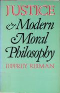 Justice and Modern Moral Philosophy